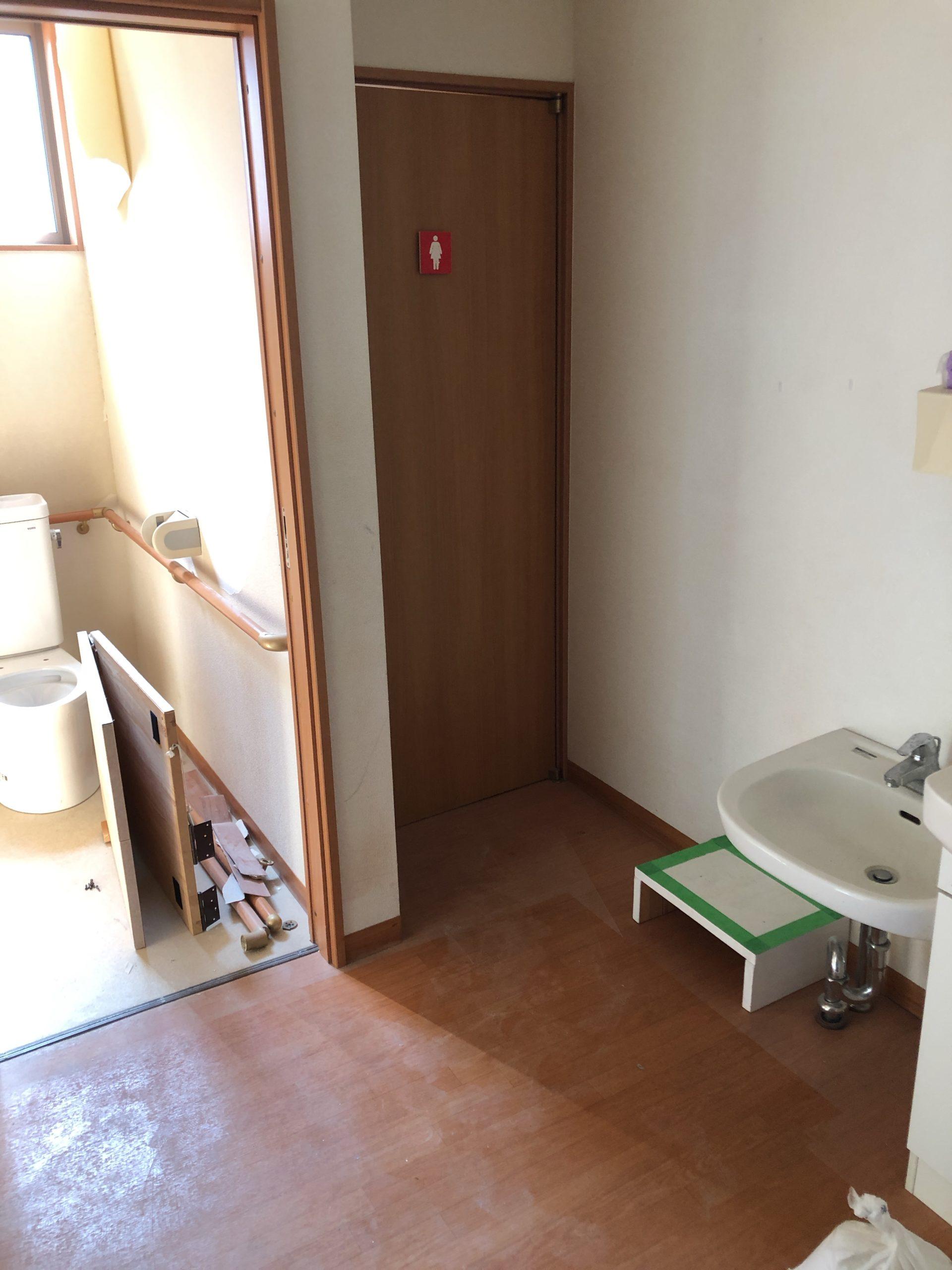 トイレ改修工事 施工1日目| 福岡市博多区・南区・中央区・春日市